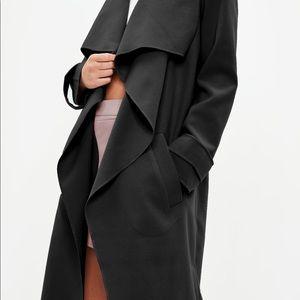 Jackets & Blazers - Black oversized waterfall duster jacket 💜🖤💜